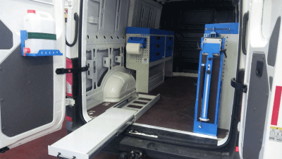 vw crafter van racking