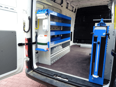 van equipment crefter racking van