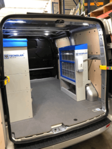 Ford transit custom van racking